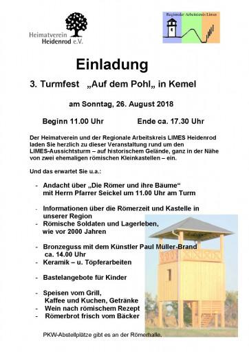 Einladung Turmfest 2018