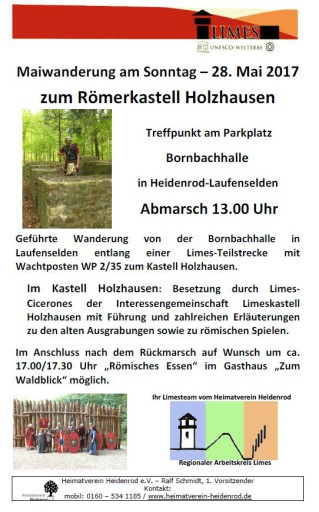 Maiwanderung zum Kastell Holzhausen