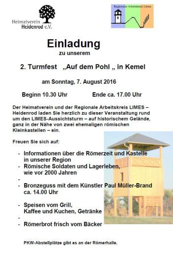 "2. Turmfest ""Auf dem Pohl"" in Kemel"